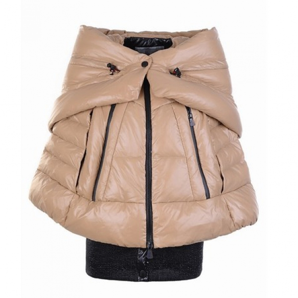 Moncler Shawl Women Jacket Beige For Sale