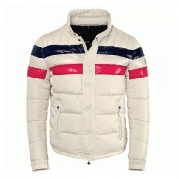 Moncler Striped Technical Menuire Sport Grey Jacket Men