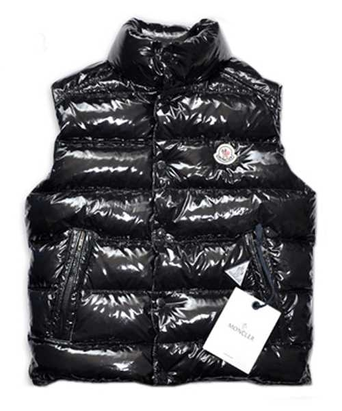 Moncler TIB Design Mens Down Vests Sleeveless Black