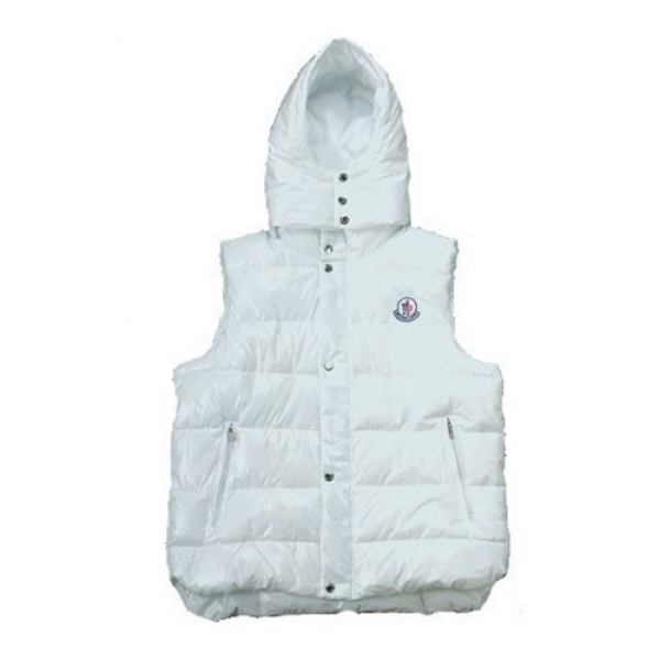 Moncler Tib Down White Vest Men