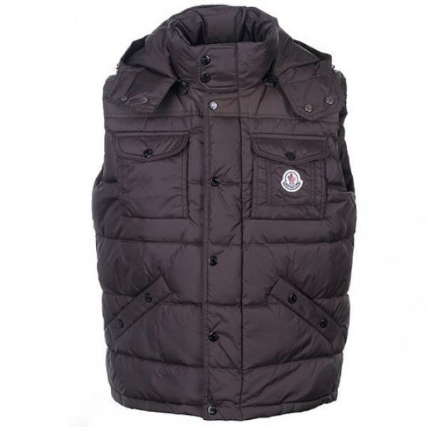 Moncler Tib Mens Vest Brown For Sale
