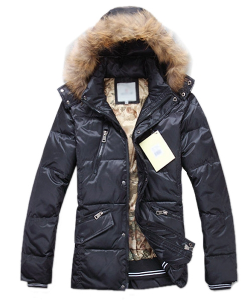 Moncler Down Jackets For Men Multi Zip Style Black