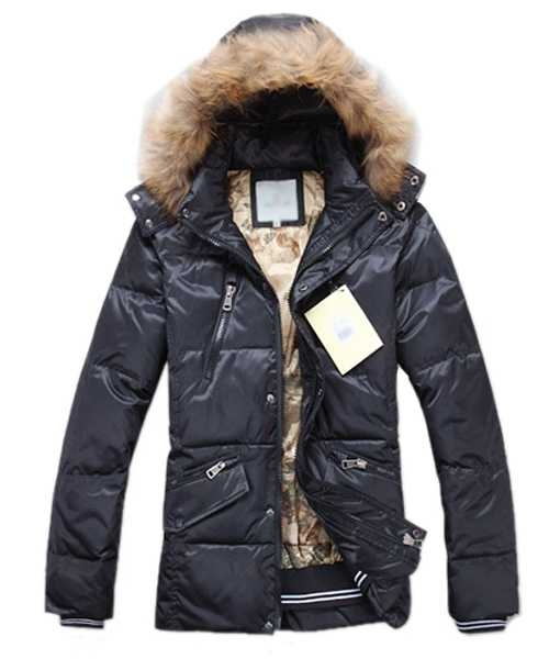 Moncler Down Jackets For Mens Multi Zip Style Black