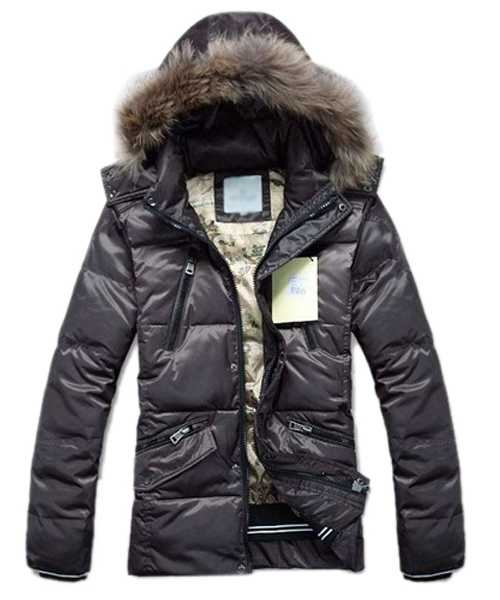 Moncler Down Jackets For Mens Multi Zip Style Coffee