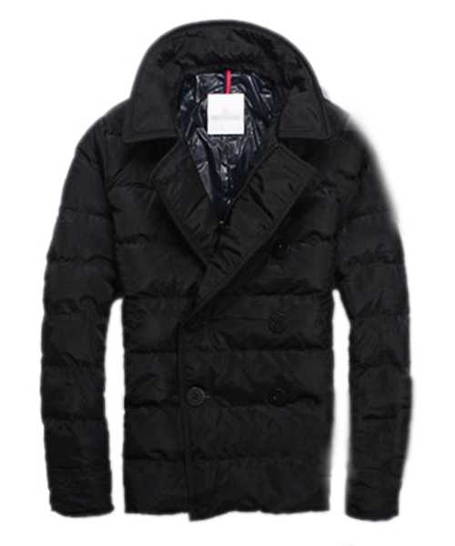 Moncler Down Jackets Handsome Mens Button Black