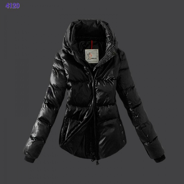 Moncler Womens Down Jackets Zip Black
