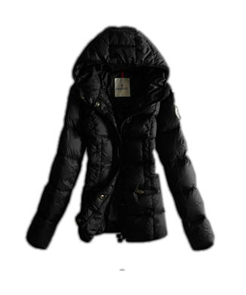 Moncler Womens Jackets Hat Pure Color Black