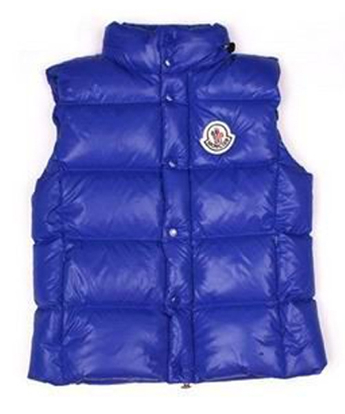 Moncler Unisex Down Vests Quilted Warmer Body Navy Blue