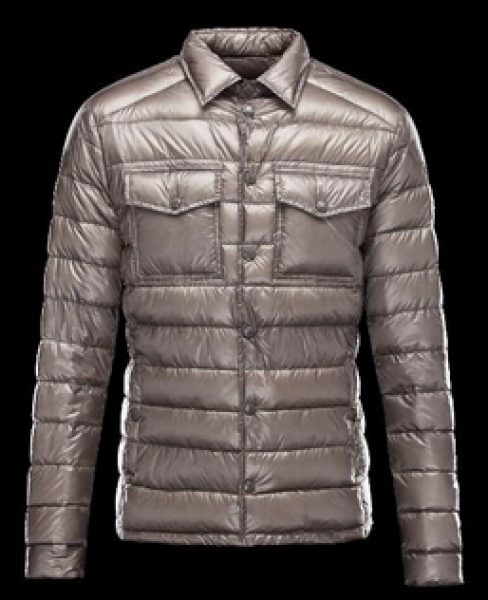 Gregoire Moncler down jacket man blue Gray
