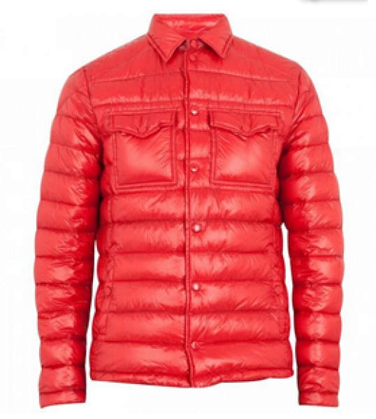 Gregoire Moncler down jacket man blue Red