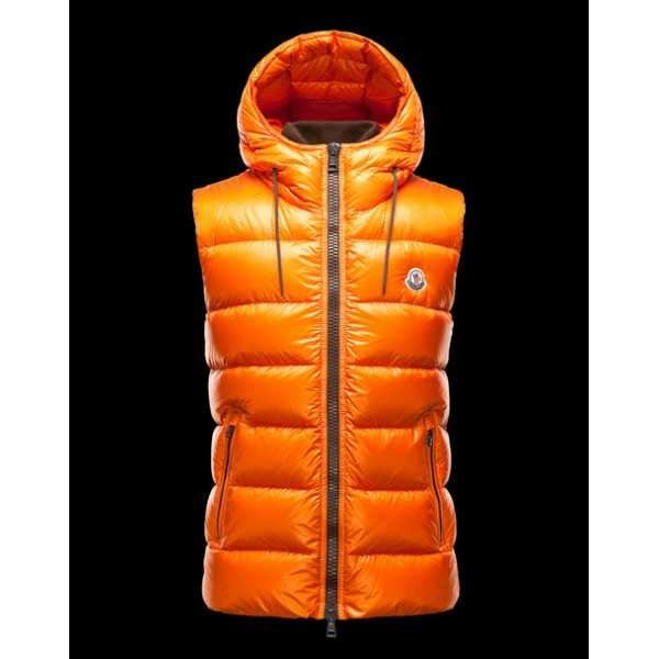 Moncler Vest Mens Bartholome Golden orange