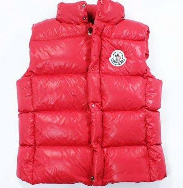 Moncler Vest Quilted Body Mens Sleeveless Pink Coat