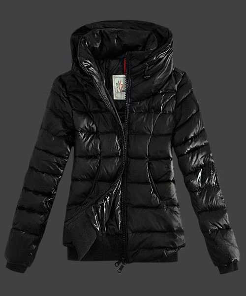 Moncler Winter Jackets Women Zip Stand Collar Black