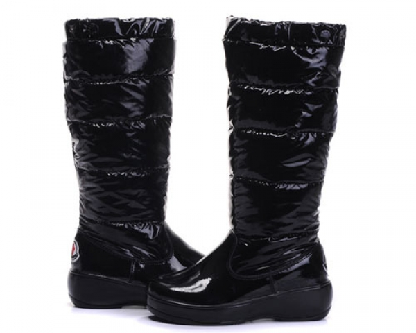 Moncler Women Boot Black For Sale