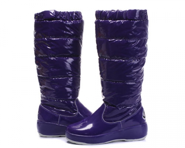 Moncler Women Boot Purple For Sale