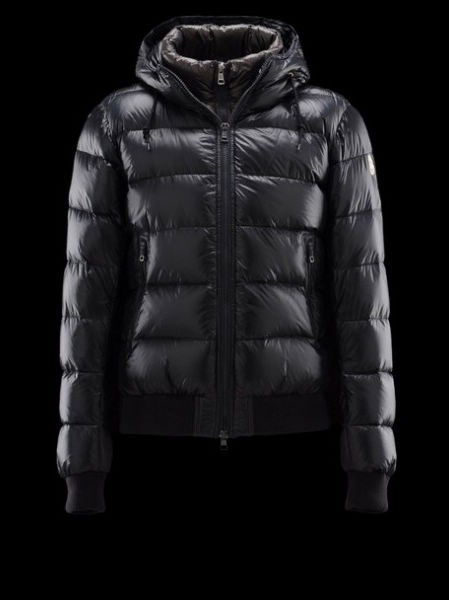 Men Moncler Coat Hooded Down Jacket Brand Black