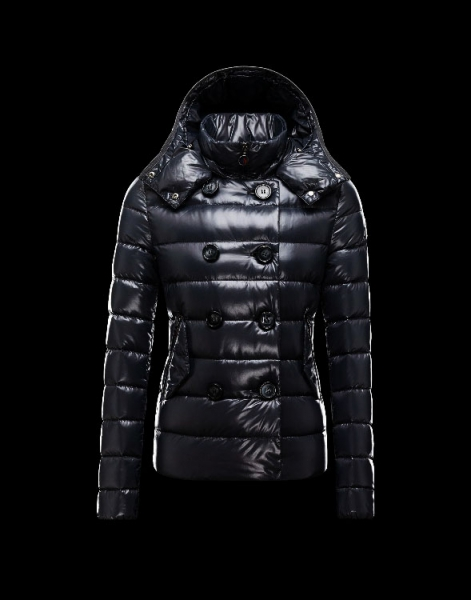 Moncler Women Down Double Breasted Jackets Black