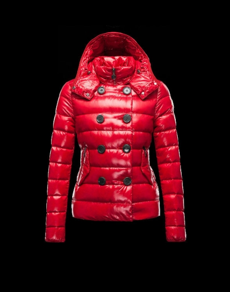 Moncler Women Down Double Breasted Jackets Red