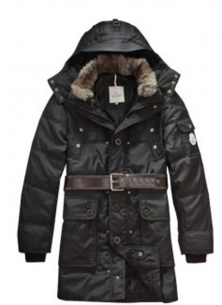 Men Moncler down coats down jackets Black