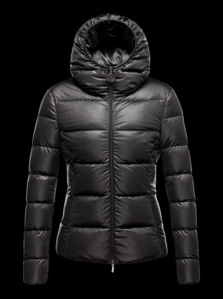 Moncler Women Down Jacket Jersey Black