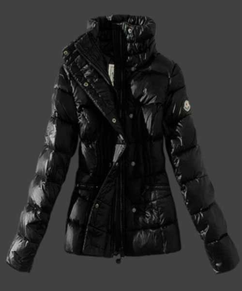 Moncler Women Down Jackets Stand Collar Black