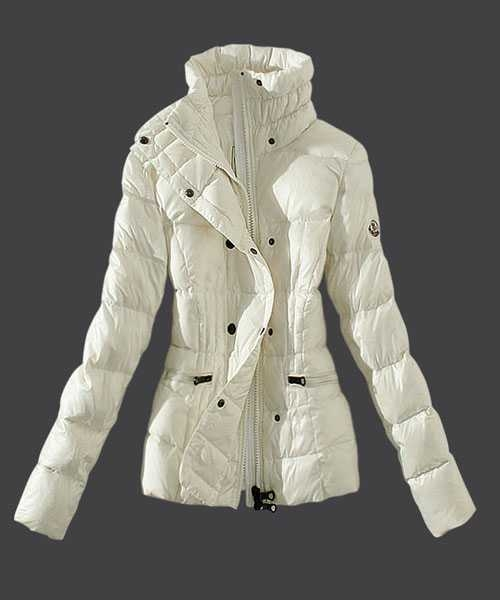 Moncler Women Down Jackets Stand Collar Slim White