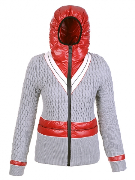 Moncler Women Jackets Gray Belt Hat