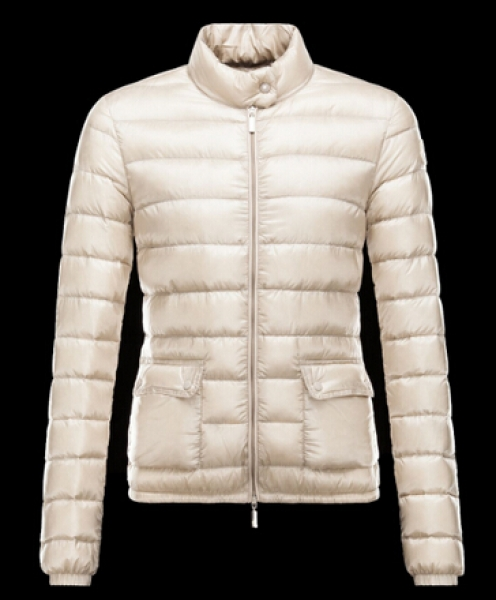 Moncler Women Jackets LANS Coat Short Jacket Beige