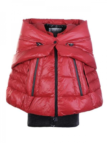 Moncler Women Zip Shawl Style Red