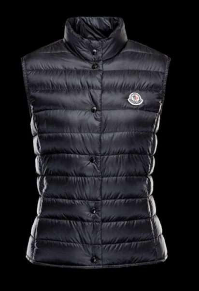 Moncler Women's Vest LIANE Black Sleeveless Vest