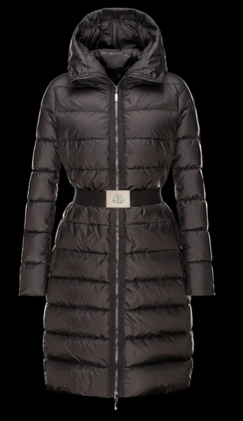 Moncler Women's Winter Coat FABRE Long Hooded Down Jacket Black