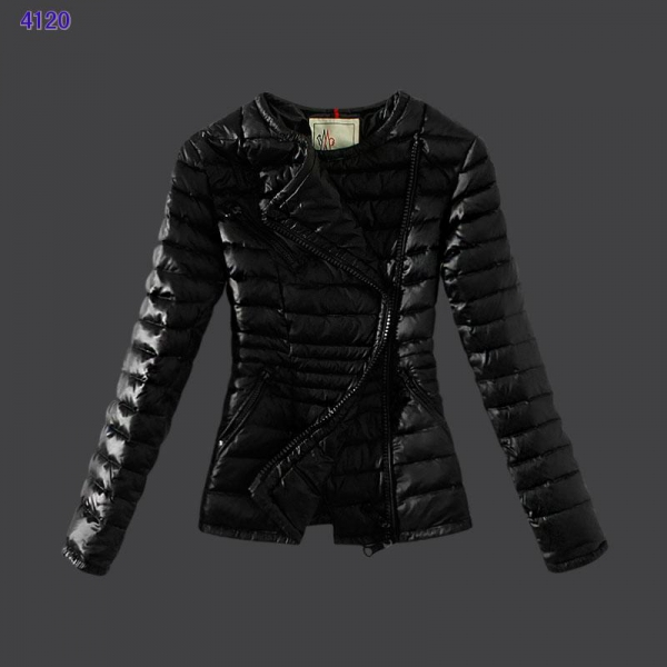 Moncler Womens Down Jackets Featured Zip Black
