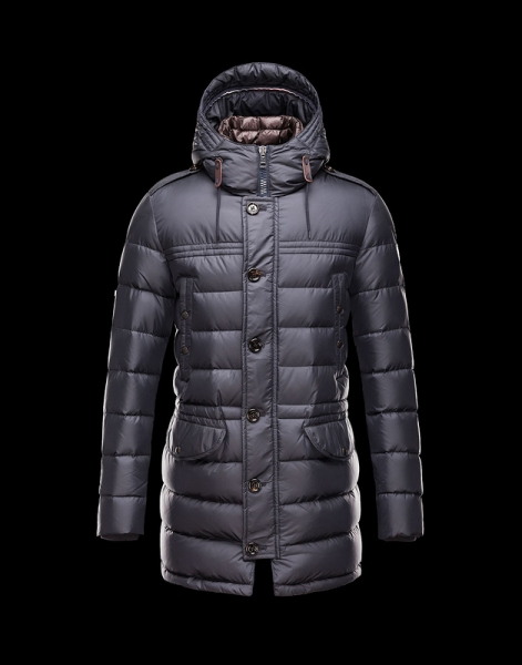 New Moncler Coats Men With Mock Collar Dark Blue