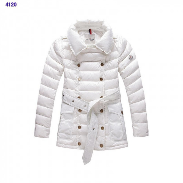 New Moncler Down Jackets Womens Long Sleeve White