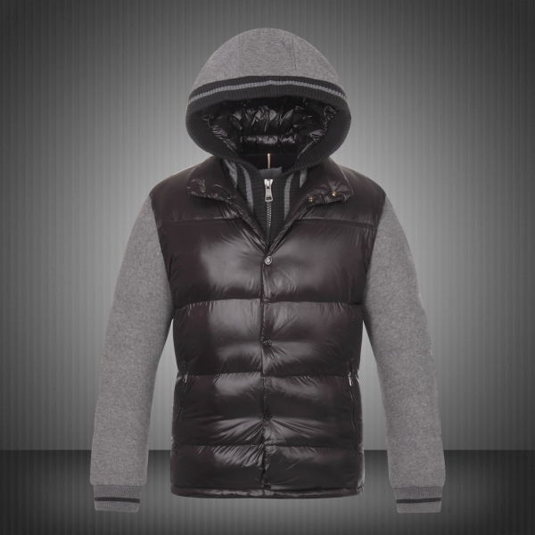 New Moncler Ghislain Men Down Jackets Black Grey