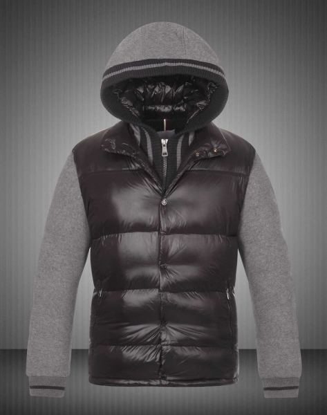 New Moncler Ghislain Men Down Jackets Black Grey Sale