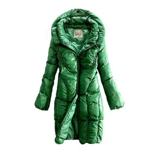 NEW! Moncler women long coats green style zip