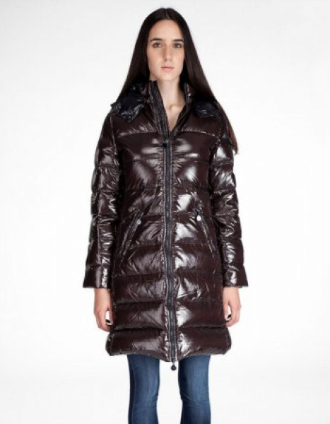 Women Moncler Moka Down Coats Brown