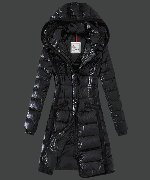 Moncler Hermine Down Coats Womens Windproof Black