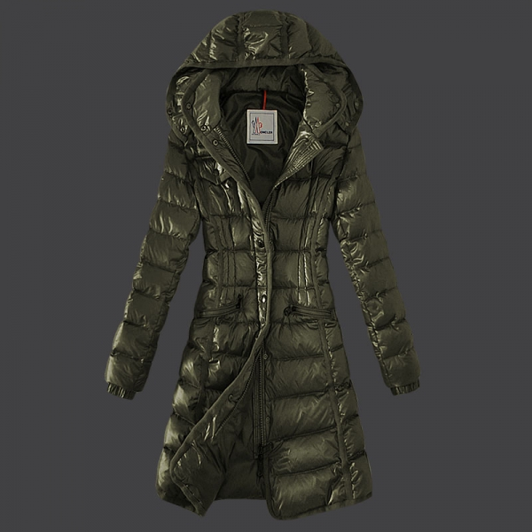 Moncler Hermine Down Coats Womens Windproof Green