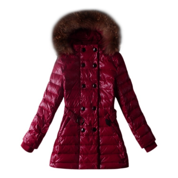 Moncler Hooded Red Coat Women