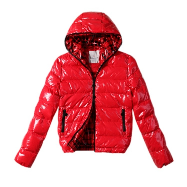 Moncler Hooded Red Jacket Women