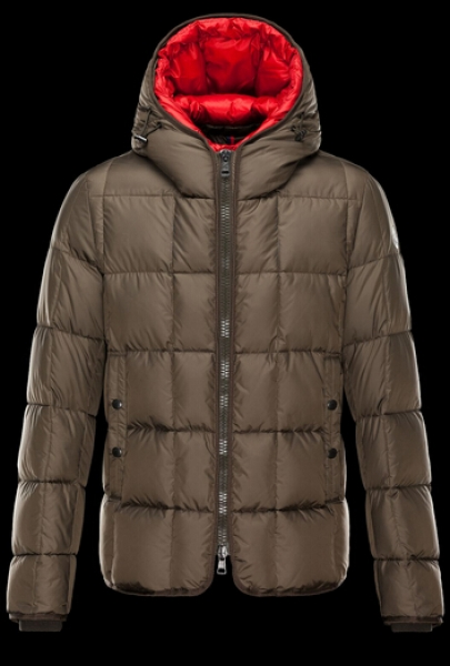 Moncler Jacket GIBRAN Men Hooded Jacket Brown Shop