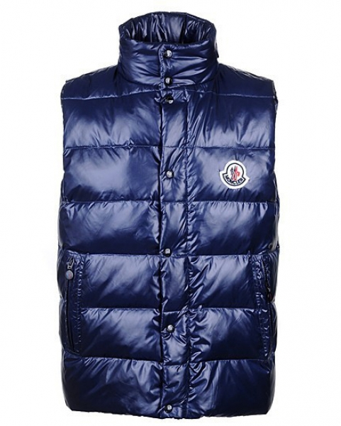 Mens Moncler Body Jacket Sleeveless Blue Coat