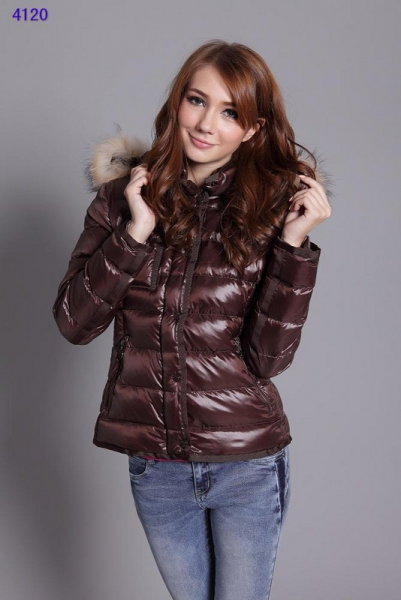 Moncler Jackets For Women Detachable Cap Brown