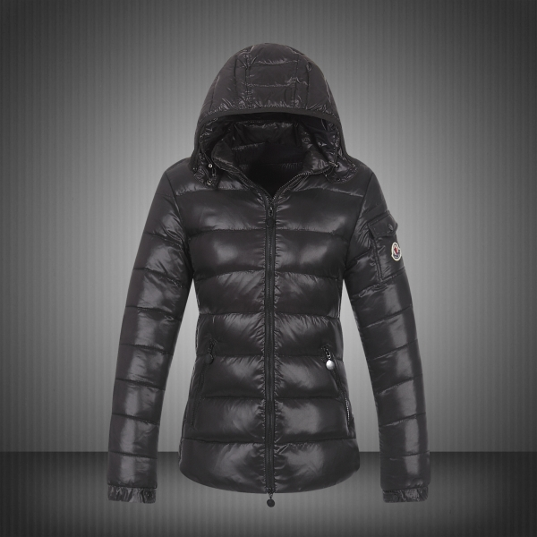 Moncler Jackets For Women Grey With Mock Collar