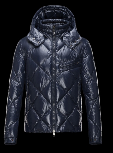 Moncler Jackets NEWMAN Men Jackets Sale Hooded Blue