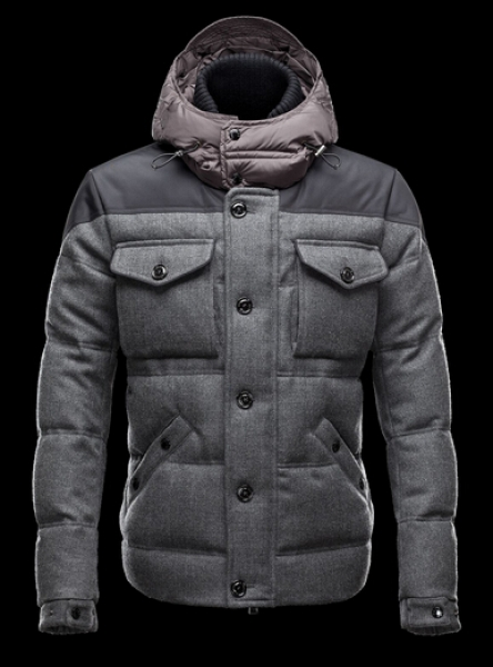 Moncler Jackets REPUBLIQUE Men Short Jacket Hooded Gray