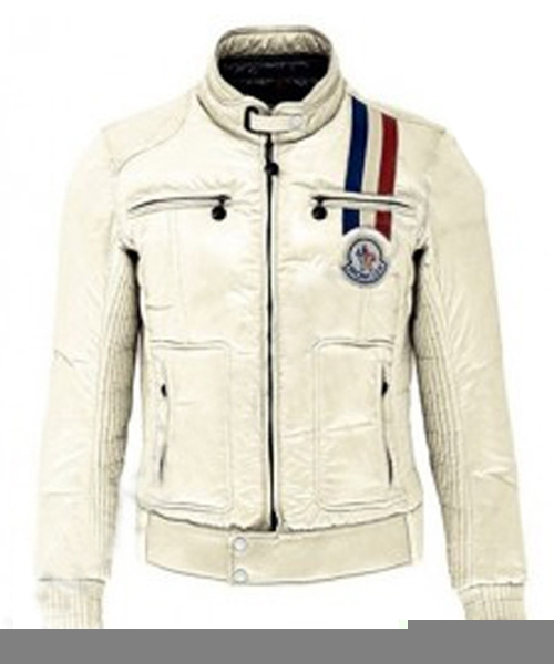 Moncler Men Down Jackets Hooded With Zip Glossy Grey Jacket