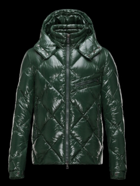 Moncler Men Jacket Newman Hooded Down Jacket Green